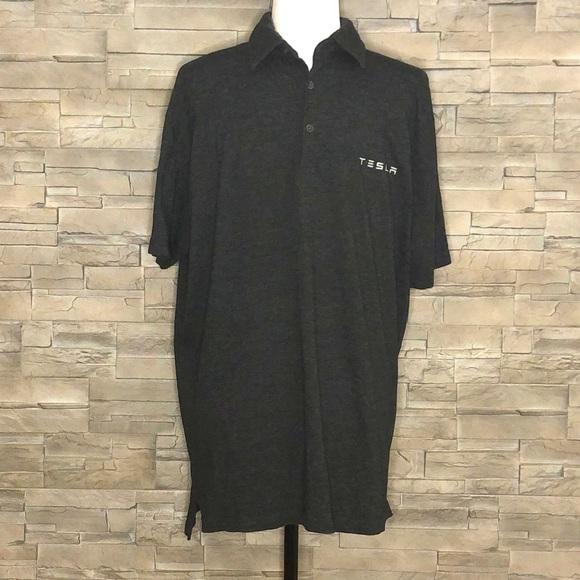 Tesla dark grey polo shirt